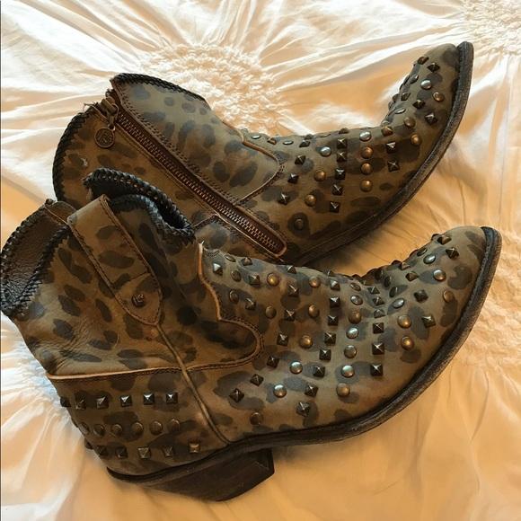 fba3cae9d75d liberty Black Shoes - Liberty black camo studded booties size 11